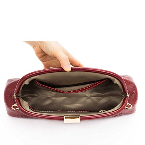 Fashion Bag Dinner Evening Simple Handbag Ladies Leather Pink qgaw8ZgX