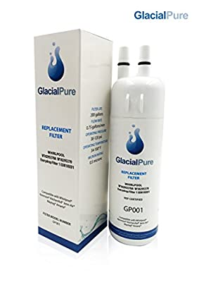 Glacial Pure W10295370A, Whirlpool Refrigerator Water Filter