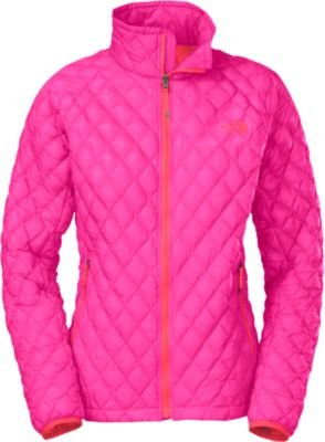 The North Face ThermoBall Full Zip Jacket Girls Azalea Pink/Rocket Red XL by The North Face