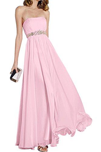 Brautjunfernkleider Beyonddress Perlen Trägerlos Rosa Cocktailkleider Lang Abendkleider Elegant Damen rrqwT