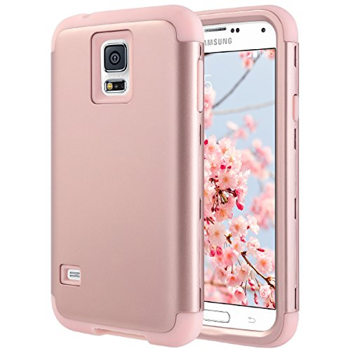 Galaxy S5 Case, S5 Case, ULAK Shock Resistant Hybrid Soft Silicone Hard PC Cover Case for Samsung Galaxy