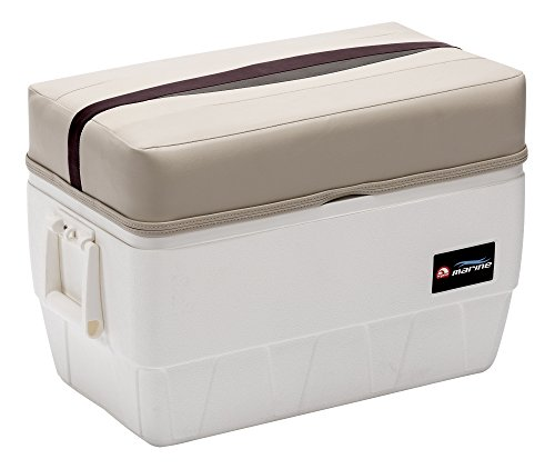 Wise Premier Series 48-Quart Igloo Cooler with Cushion Seat, Platinum/Platinum Punch/Wineberry / ()