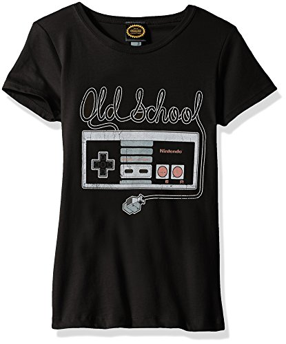 Price comparison product image Nintendo Big Girls Tangled Controller Graphic Tee, black, L