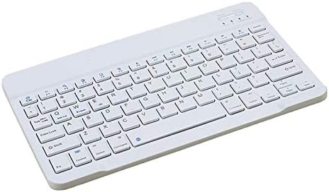 QYLLXSYY Slim Mini Bluetooth Wireless Keyboard for Android Tablet Apple Smart Phone Portable Keyboard Ergonomic Keyboard Color : 9 inch White