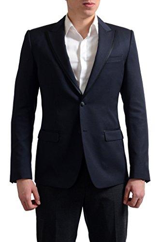 (Dolce & Gabbana Tailored Men's Navy Wool Silk Sport Coat Blazer US 42 IT 52;)