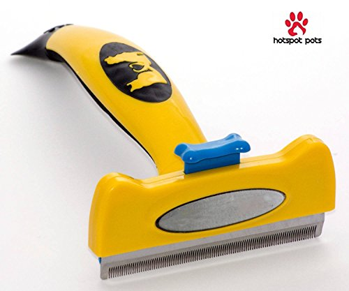 Dog-Brush-For-Shedding-OU-BAND-Pet-Grooming-Deshedding-Brush-4-Inches-Wide-Stainless-Steel-Safety-Blade-for-DogsCats-With-Long-Hair-Effectively-Reduces-Shedding-By-Up-To-90