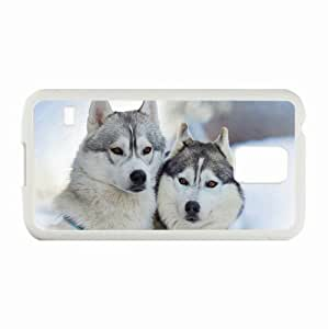 Personalized Samsung Galaxy S5 Case,Custom Samsung SV Back Cover Diy PC Hard Shell Case Husky White