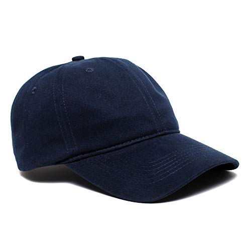 Pacific Headwear - 201C   Brushed Cotton Twill Buckle Back Hat (12 Pack) Navy