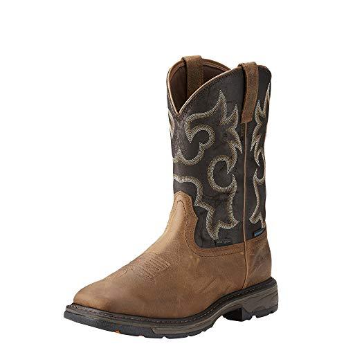 Ariat Men's Workhog H2O 400g Work Boot, Rye Brown/Coffee, 14 2E US