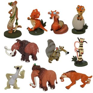 Skrou Hot New 10 Rare Ice Age Figures Collectible Toys Lovely