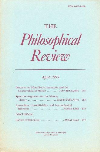 The Philosophical Review, April 1993, Vol. 102, No. 2