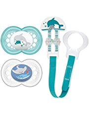 MAM Pacifier and MAM Pacifier Clip Value Pack (2 Pacifiers & 1 Clip)