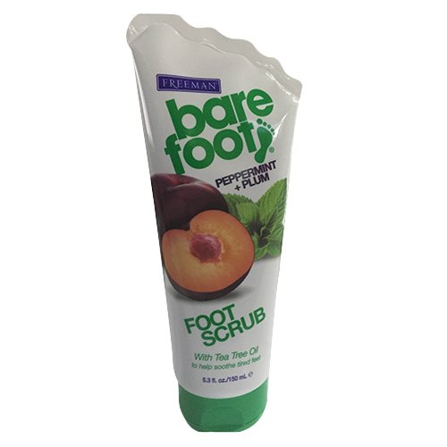 (Freeman Bare Foot Creamy Pumice Foot Scrub, Peppermint & Plum - 5.3 Oz.)