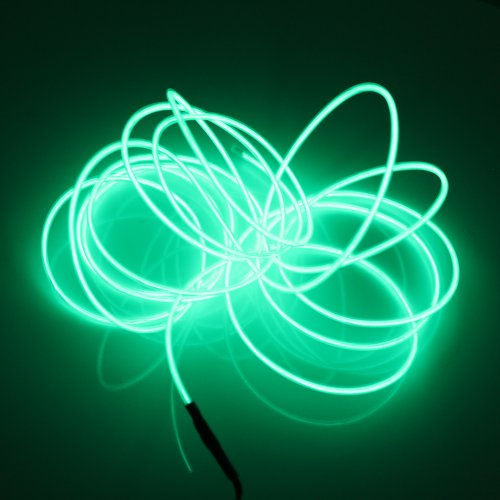Multi Color Green Wire (Lerway 3M/ 9.84FT Rope Neon Flexible Light Strip EL Wire Cable DIY Multicolor Cosplay Party Decoration (green))