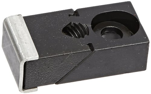 Te-Co 33802 Nuzzler Black Oxide 1018 Steel Standard Grip Edge Clamp, 3/8'' Bolt Size, 2-5/16'' Length x 1-1/4'' Width x 5/8'' Height by TE-CO