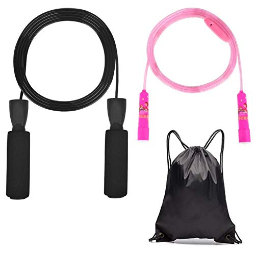 Jump Rope,Skipping Rope, Fast Jump Rope Without Tangles, Jump Rope, Jump Rope with Memory Foam Handle, Aerobic Exercise…