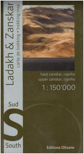 Ladakh Zanskar: Trekking Map- South (English and French Edition) (Ladakh Trekking)