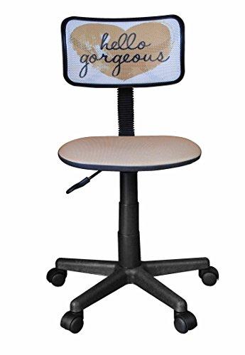 Urban Shop Printed Swivel Mesh Chair, Hello Gorgeous