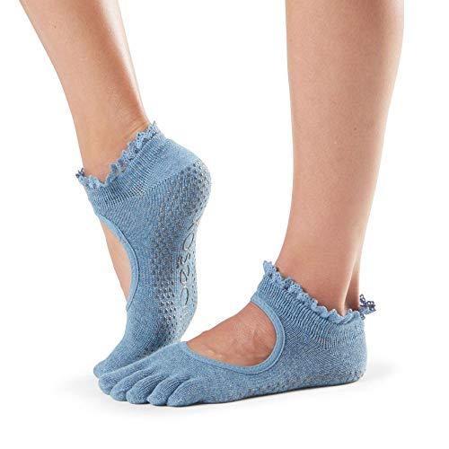 toesox Women's Bella Full Toe Grip, Denim Lace, Small…