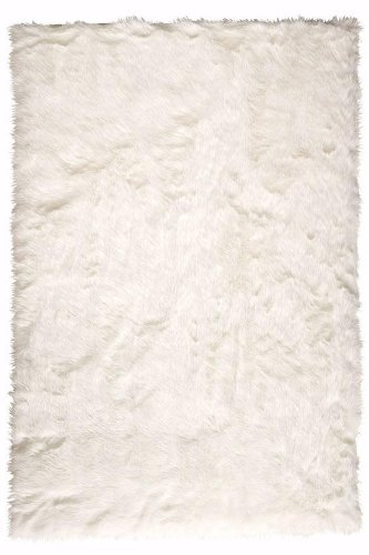 Home Decorators Collection Faux Sheepskin Area Rug, 4 X6 , White