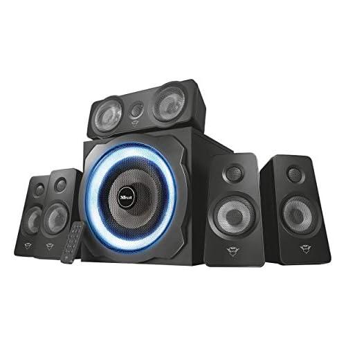 chollos oferta descuentos barato Trust Gaming GXT 658 Tytan 5 1 Sistema de Altavoces 5 1 con Iluminación LED y Sonido Envolvente Alámbrico N