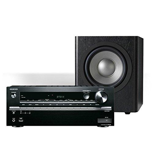 Onkyo TX-NR646 7.2-Channel Network AV Receiver with JBL SUB 260P Studio 12