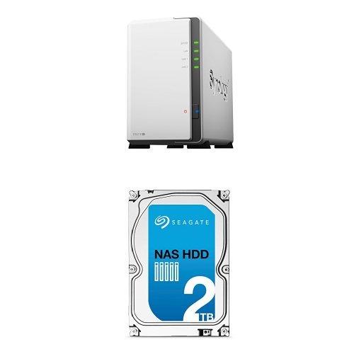 Synology DS216j 4TB (2x 2 TB Seagate NAS ST2000VN000 HDD) 2-Bay Desktop-NAS-Unit