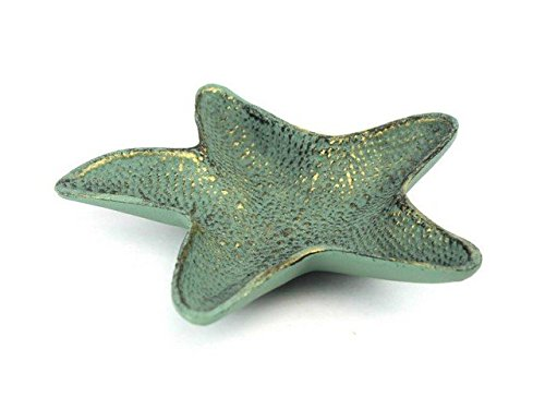 Handcrafted Decor K-1290-bronze Antique Bronze Cast Iron Starfish Decorative Bowl, 8 in.
