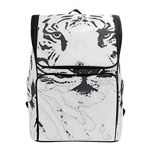 (SLHFPX Laptop Backpack White Tiger Bengal Duffle Backpack for Men Big Casual Bag)