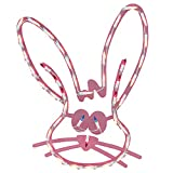 """IMPACT 18"""" Lighted Pink Bunny Head Easter Window"""