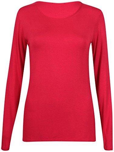 Gildan 64400L - Camiseta de manga larga para mujer Rosso