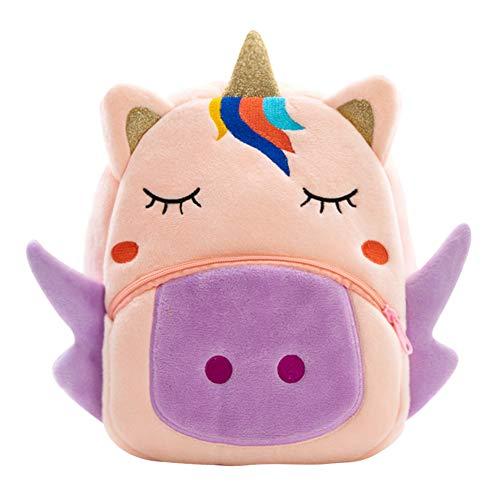 Cute Kids Toddler Backpack Plush Toy Animal Cartoon Children Bag for 1~5 Years Baby, Pink Unicorn ()