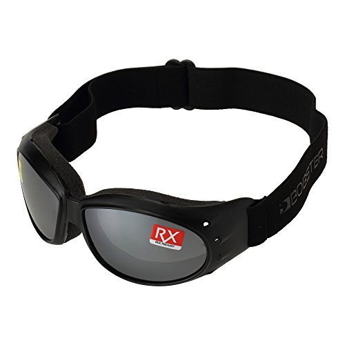Bobster Cruiser Goggles,Black Frame/Smoked Reflective Lens,one size ()