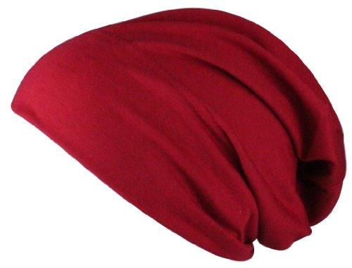 Gorra Lungo Jersey XL y reversible de dos tonos in diferentes colores Rojo