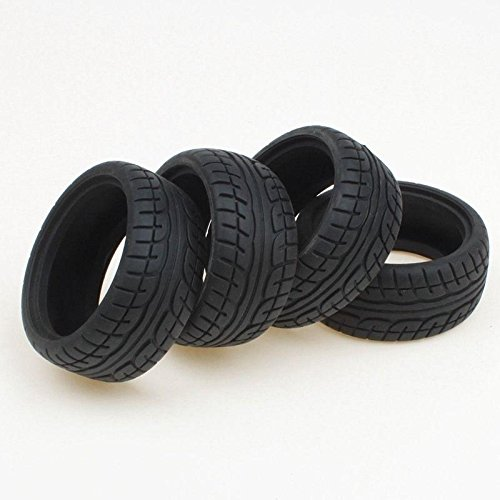 Shaluoman Soft Rubber Tires Tyre for RC 1:10 On Road Car Pack of -