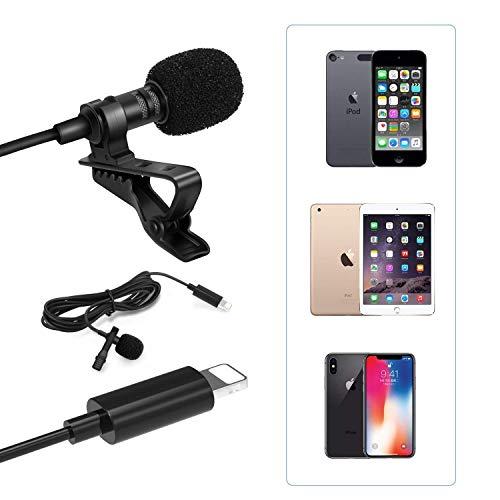 Micrófono de doble cabeza Clip de grabación en micrófono Mini micrófono compatible con el teléfono XS/XR/X / 8/7/6/5 / Pad Air