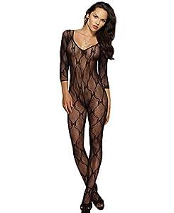 Dreamgirl-0019 Women's Lace Long Sleeve Bodystocking