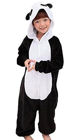 iNewbetter Childrens Pajamas Animal Onesies Cosplay Homewear (115(Height 125-135cm), Panda)
