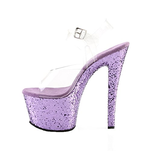 Flamingo lavender Talons Femme Semelle 801 Clr Pleaser Compensée Glitter Et qw8CAqdP