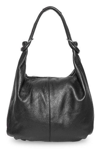 Bags4Less - Bolso bandolera de Piel , color, talla Cuero napa negro