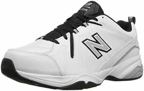 New Balance Men's MX608V4 Training Shoe, White/Navy, 7 2E US