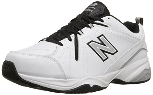 New Balance Men's MX608v4 Training Shoe, White/Black, 9.5 D US