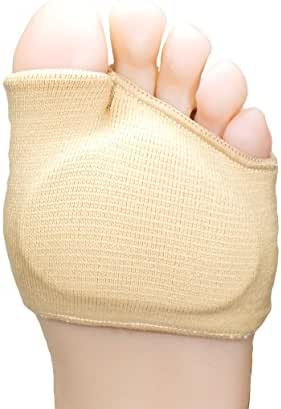 ZenToes Fabric Metatarsal Sleeve with Sole Cushion Gel Pads, Half Sock Supports Metatarsalgia, Mortons Neuroma, Ball of Foot Pain
