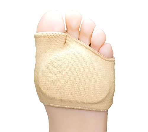 ZenToes Fabric Metatarsal Sleeve with Sole Cushion Gel Pads, Supports Metatarsalgia, Mortons Neuroma (Food Places Open Right Now For Delivery)