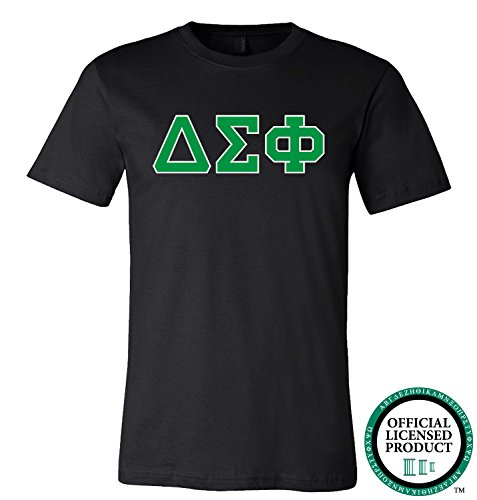 DELTA SIGMA PHI | Green Letters - Licensed Unisex T-shirt