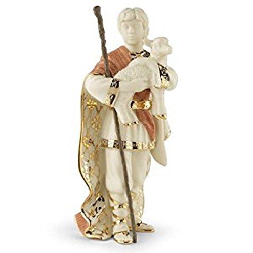 Lenox First Blessing Nativity Shepherd Boy Figurine Lamb Staff Porcelain by Lenox (Image #1)