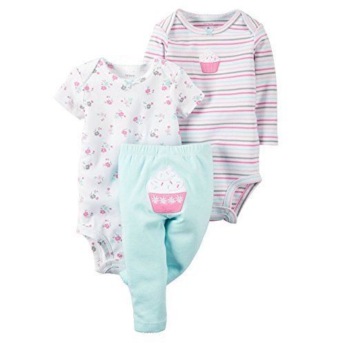 - Carter's Baby Girls' 3-Piece Cupcake Set 24 Months