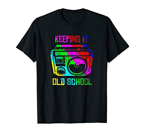 (Keeping It Old School 80s 90s Boombox T Shirt Retro)