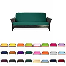 Colorful High Quality Futon Cover Slipcover (Teal Green, Full (54x75 in.))