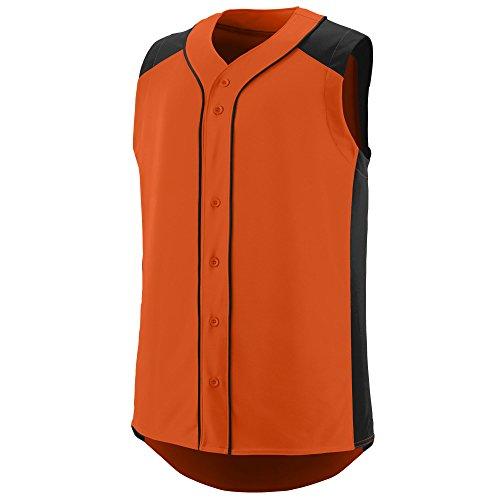 Augusta Sportswear Sleeveless Slugger Jersey L Orange/Black